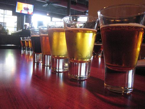 Bulldog Lowertown St Paul Beer Flights