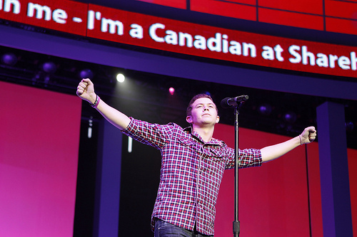 Canadian singer Scotty McCreery at 2011 Walmart Shareholders Meeting